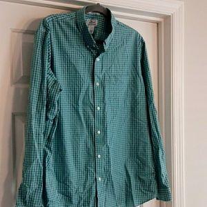 L.L. Bean Wrinkle Resist Slim Fit mens shirt XL